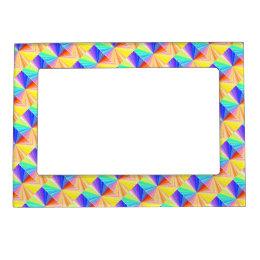 Diamond Patterns Sparkles Borders Magnetic Photo Frame