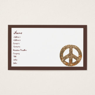 Diamond Peace Sign Business Card