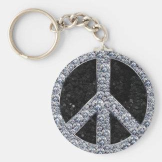 Diamond Peace Sign Keychain