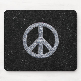 Diamond Peace Sign Mouse Pads