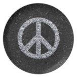 Diamond Peace Sign Plate