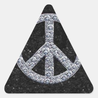 Diamond Peace Sign Triangle Sticker
