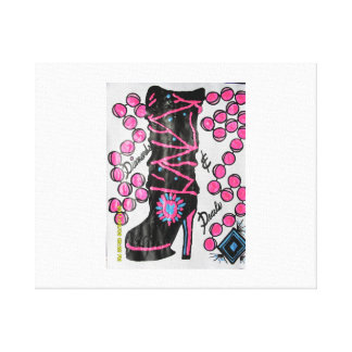 diamond/pearl boot canvas print
