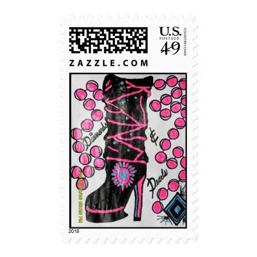 diamond/pearl boot postage stamp