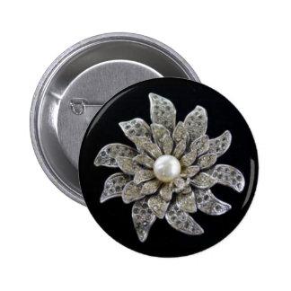 Diamond & Pearl Brooch Buttons