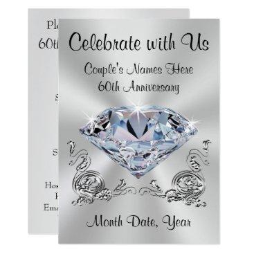anniversarie Diamond Personalized 60th Anniversary Invitations