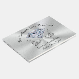 Diamond Personalized Guest Book for Your Occasion