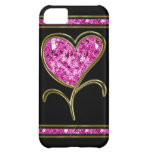 Diamond Pink & Gold Heart Flower iPhone 5C Cover