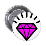 diamond-pink pin redondo de 2 pulgadas