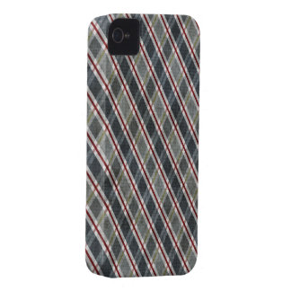 Diamond Plaid Blue iPhone 4 Case