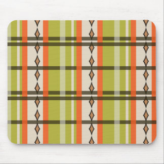 Diamond Plaid in Spring Green Mouse Pad