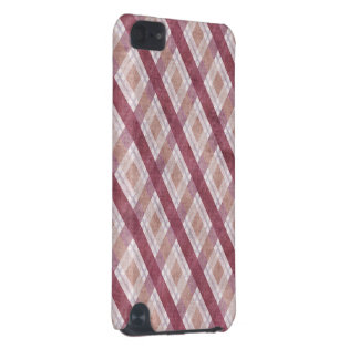 Diamond Plaid Red iPod Touch 5G Cases