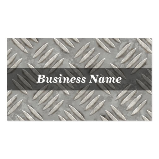 Diamond Plate Background Business Card Templates
