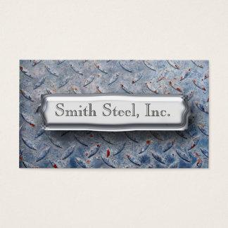 Diamond Plate Blue Business Card