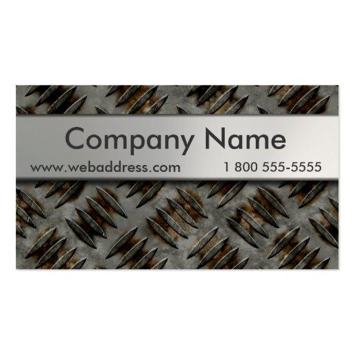 Diamond Plate Business Cards