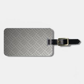 Diamond Plate Faux Pattern Luggage Tag