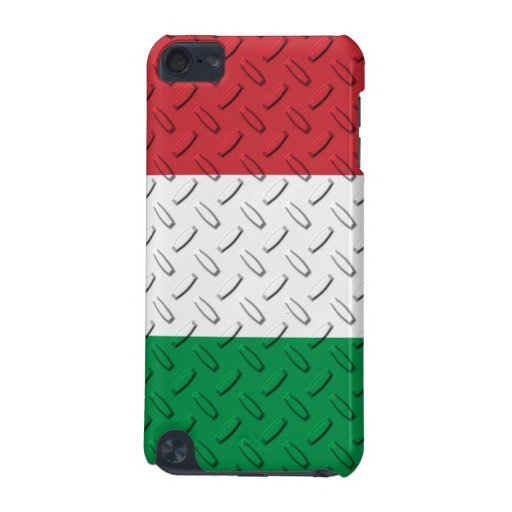 Diamond Plate Flag of Italy iPod Touch 5G Cases