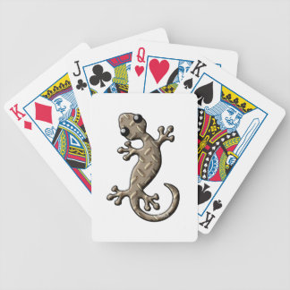 Diamond Plate Gecko Bicycle Playing Cards