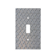 Diamond Plate Light Switch Cover