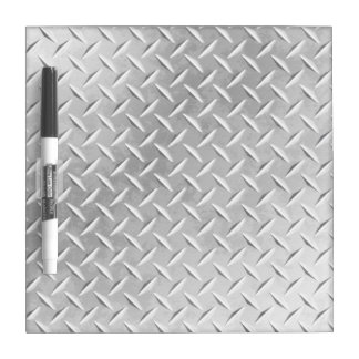 Diamond Plate Metal Digital Effect DryErase Board