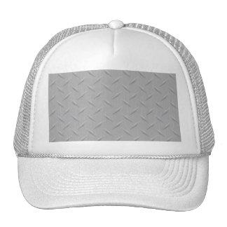 Diamond Plate Metal Trucker Hats