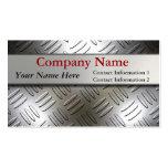 Diamond Plate Metal Look Business Cards
