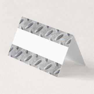 Diamond Plate Metal Material Pattern Bar Mitzvah Place Card