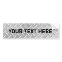 Diamond Plate Metal Pattern Bumper Sticker