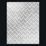 "Diamond Plate Metal Pattern Scrapbook Paper<br><div class=""desc"">Customizable stationery in a diamond plate metal pattern. Great for scrapbooking.</div>"