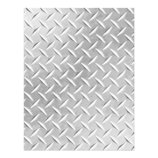 Diamond Plate Metal Pattern Scrapbook Paper Customized Letterhead