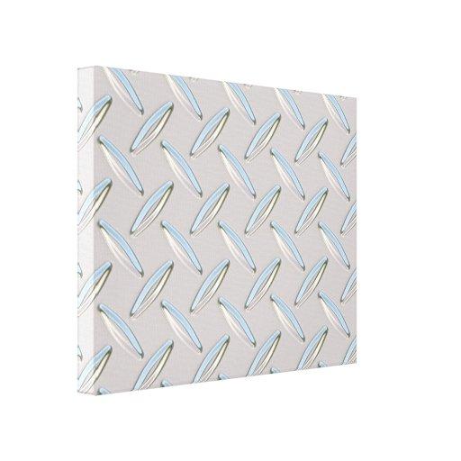 Diamond Plate Metallic Canvas Print
