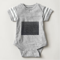 diamond-plate pattern baby bodysuit