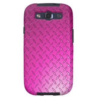 Diamond Plate Pink Samsung Galaxy S3 Case