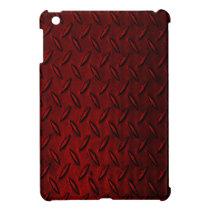 Diamond Plate Red iPad Mini Case