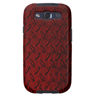 Diamond Plate Red Samsung Galaxy S3 Case