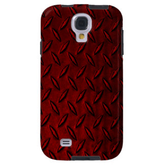 Diamond Plate Red Samsung Galaxy S4 Case