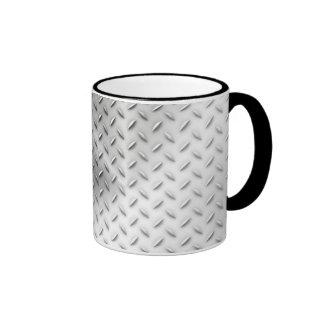 Diamond Plate Ringer Mug