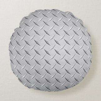 DIAMOND PLATE ROUND PILLOW