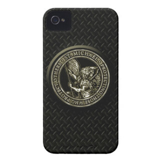 Diamond Plate & St Mike iPhone 4 Cover