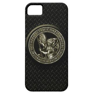 Diamond Plate & St Mike iPhone SE/5/5s Case