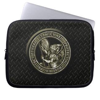Diamond Plate & St Mike Laptop Sleeve