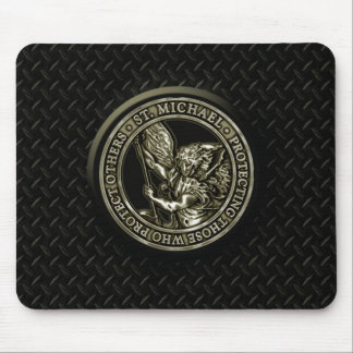 Diamond Plate & St Mike Mouse Pad