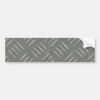 Diamond Plate Stainless Steel Textured Bumper Sticker