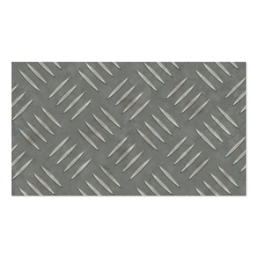 Diamond Plate Stainless Steel Textured Double-Sided Standard Business Cards (Pack Of 100)