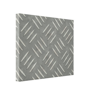 Diamond Plate Stainless Steel Textured Canvas Print