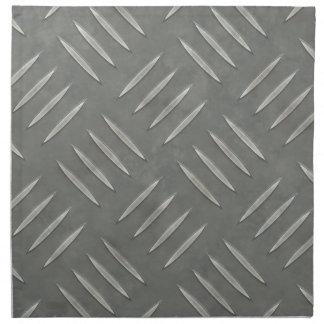 Diamond Plate Stainless Steel Textured Cloth Napkin