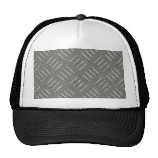 Diamond Plate Stainless Steel Textured Mesh Hat