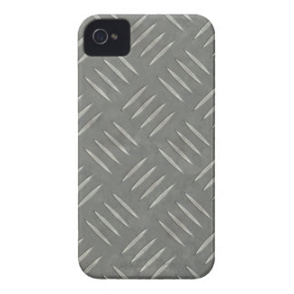 Diamond Plate Stainless Steel Textured iPhone 4 Case-Mate Cases