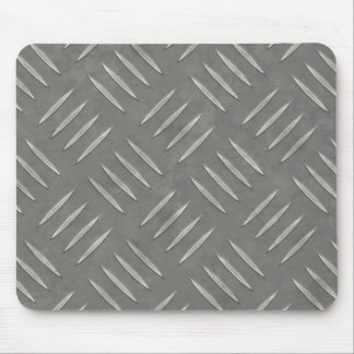 Diamond Plate Stainless Steel Textured Mouse Pad