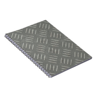 Diamond Plate Stainless Steel Textured Notebook